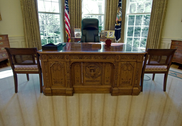 Inside the Oval Office of the White House, February 2008.