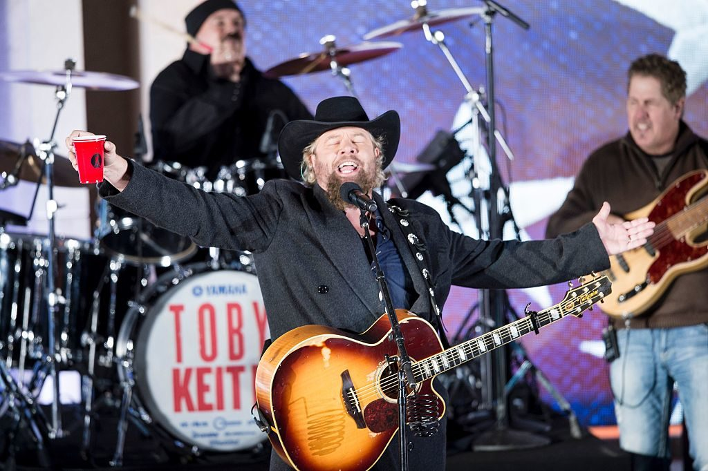 Country singer Toby Keith performs for US President-elect Donald Trump and his family during a welcome celebration at the Lincoln Memorial in Washington, DC, on January 19.