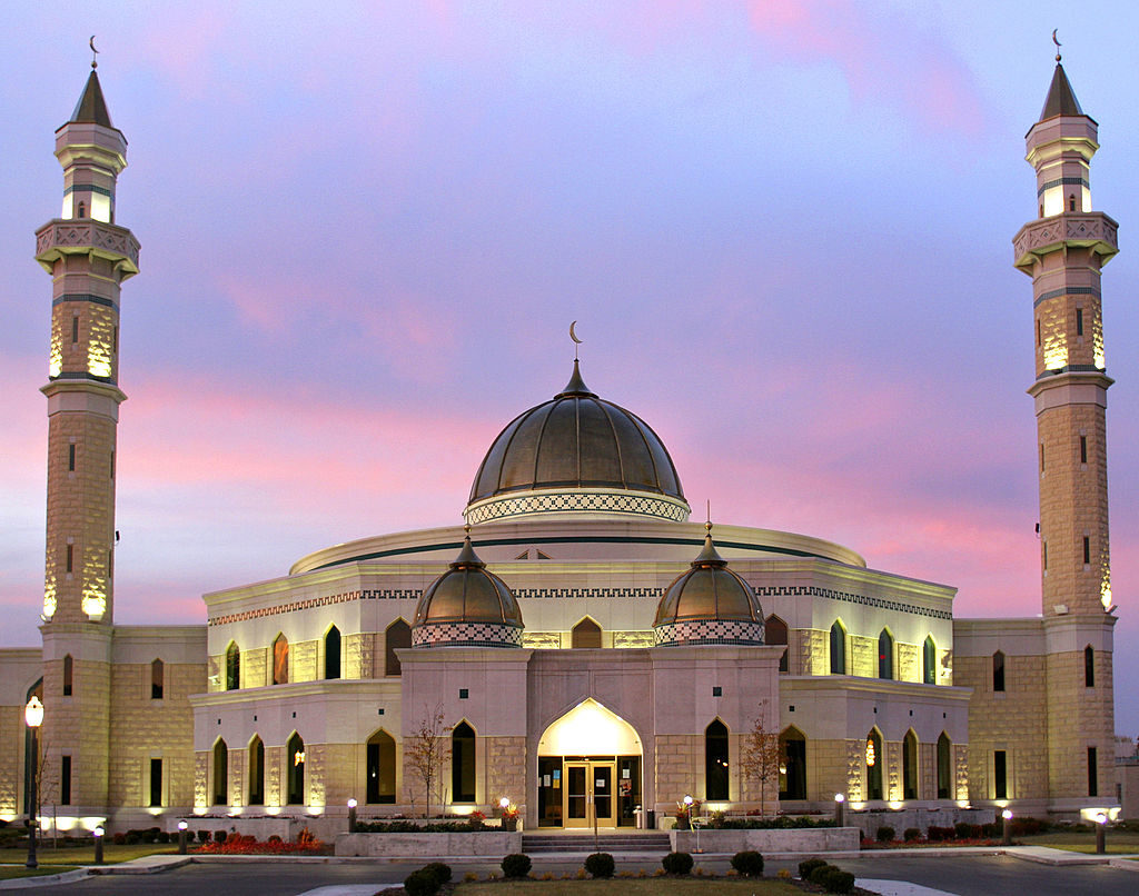 The Islamic Center of America mosque in Dearborn, Michigan