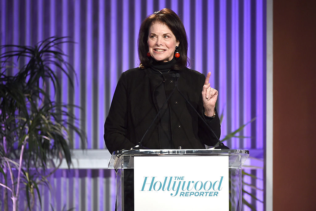 Sherry Lansing speaks onstage during The Hollywood Reporter's Annual Women in Entertainment Breakfast in Hollywood, California.