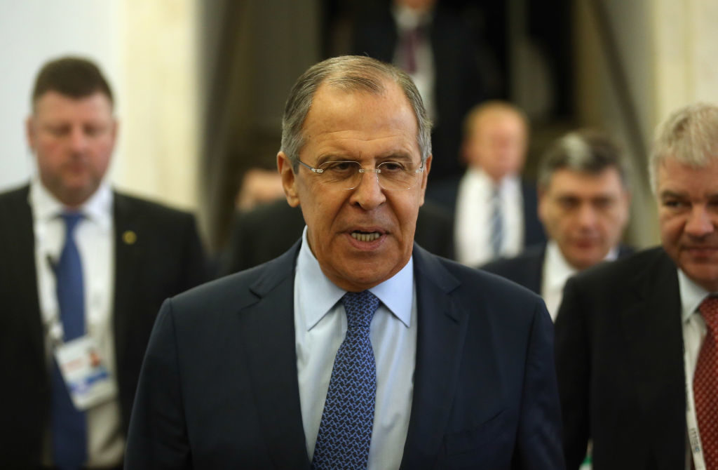 President Trump reportedly divulged classified information to Russian foreign minister Sergei Lavrov, seen here in February, 2017, in a meeting at the White House in mid-May.