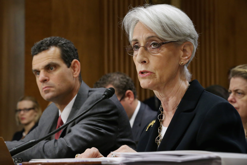 State Department Undersecretary For Political Affairs Wendy Sherman testifies before the Senate Foreign Relations Committee about talks with Iran on Capitol Hill in 2014. Ambassador Sherman was the chief U.S. negotiator in the talks that lead to the 2015 nuclear deal with Iran.