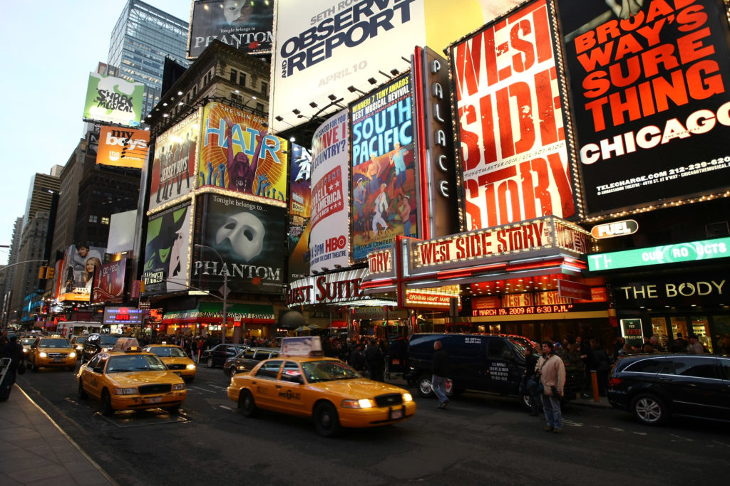 New York City's Broadway in 2009