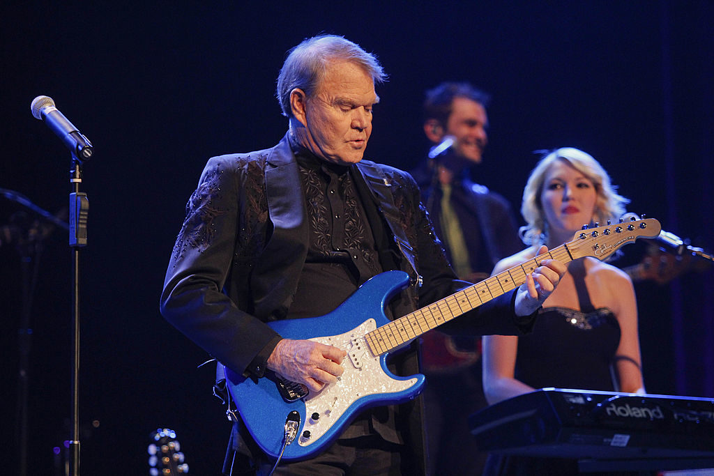Glenn Campbell performs at the Ryman Auditorium in 2012.