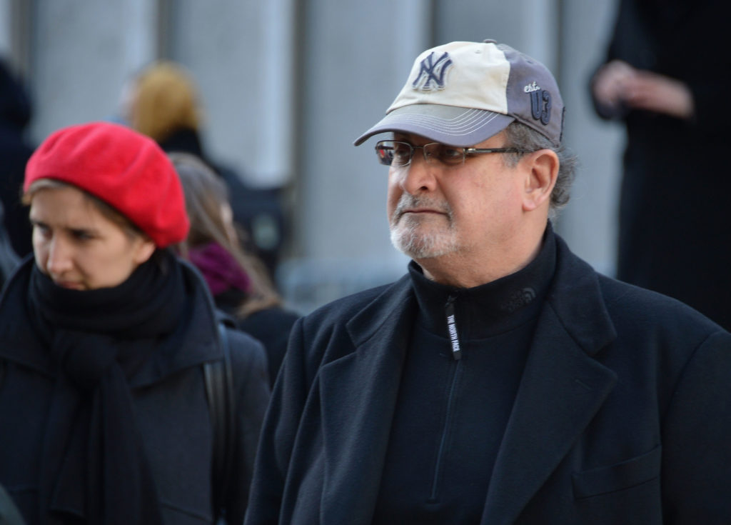 Salman Rushdie in New York City on November 14, 2013