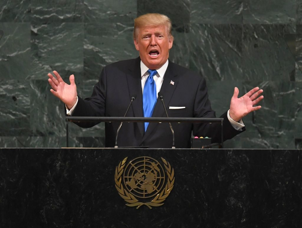 President Donald Trump addresses the 72nd Annual UN General Assembly.
