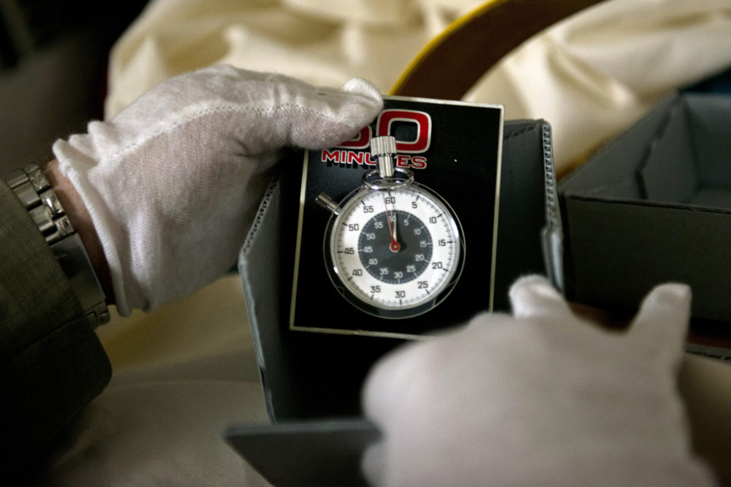 "The watch seen at the beginning of ""60 Minutes"" is held here, in the vaults at the Smithsonian's American History Museum."