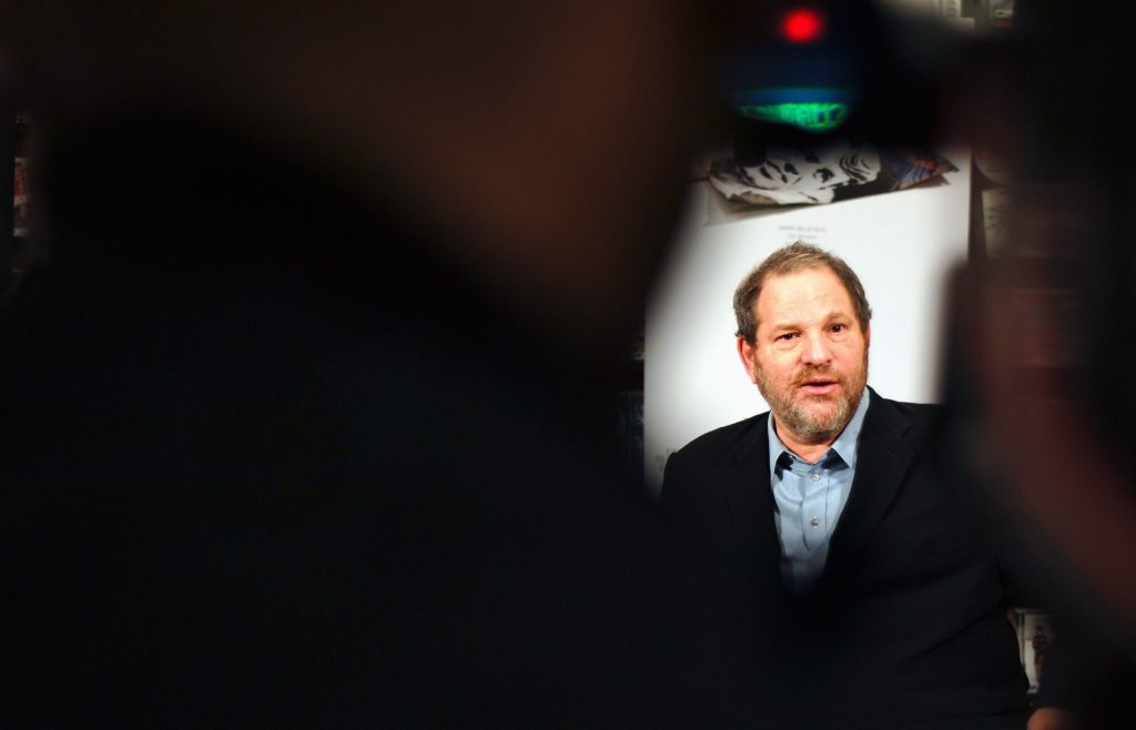 Harvey Weinstein speaks with reporters at a press conference on November 15, 2006 in New York City, New York.