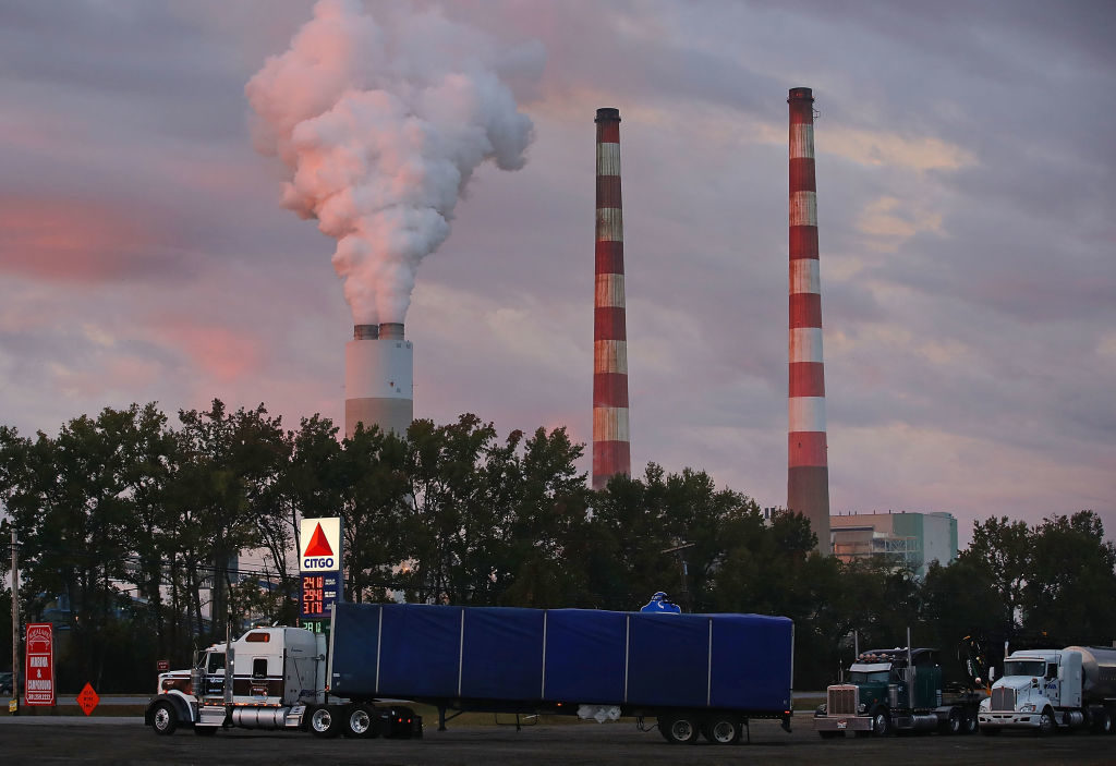 Emissions billow out of a stack at the coal-fired Morgantown Generating Station in Newburg, Maryland. Environmental Protection Agency Director Scott Pruitt is is taking steps to repeal President Barack Obama's policy to curb greenhouse gas emissions from power plants.