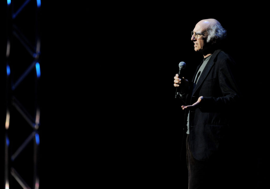 Comedian Larry David performs onstage in 2010.