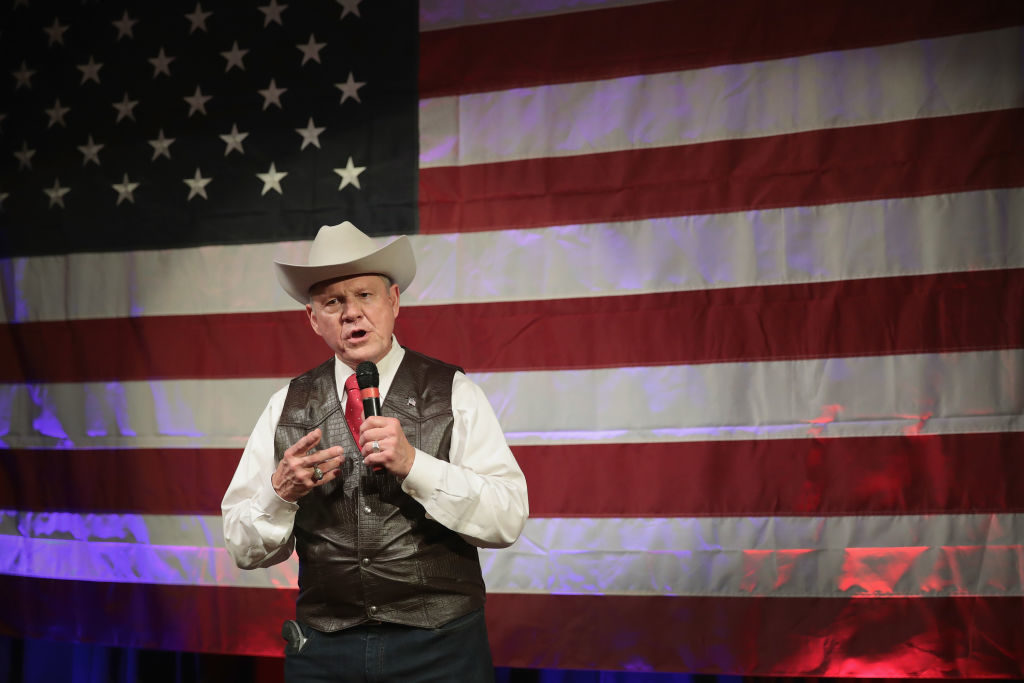 Senate Candidate Roy Moore campaigns in Alabama.