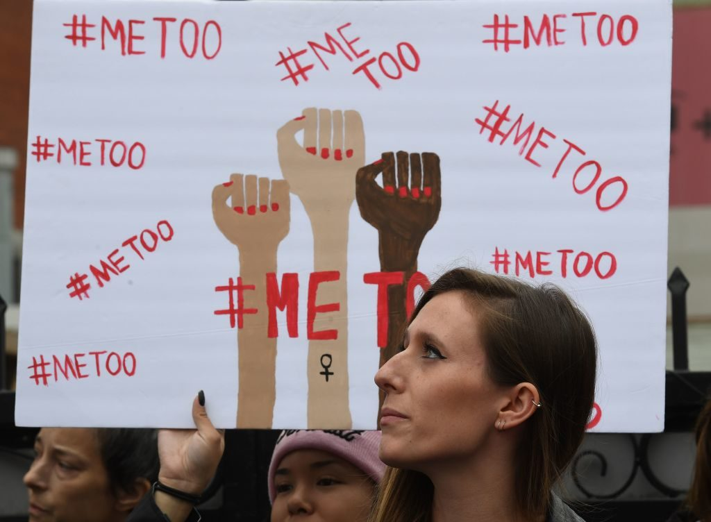 Victims of sexual harassment, sexual assault, sexual abuse and their supporters protest during a #MeToo march in Hollywood, California on November 12. The #MeToo movement has led to a string of accusations of sexual misconduct against powerful men in entertainment, media and politics.
