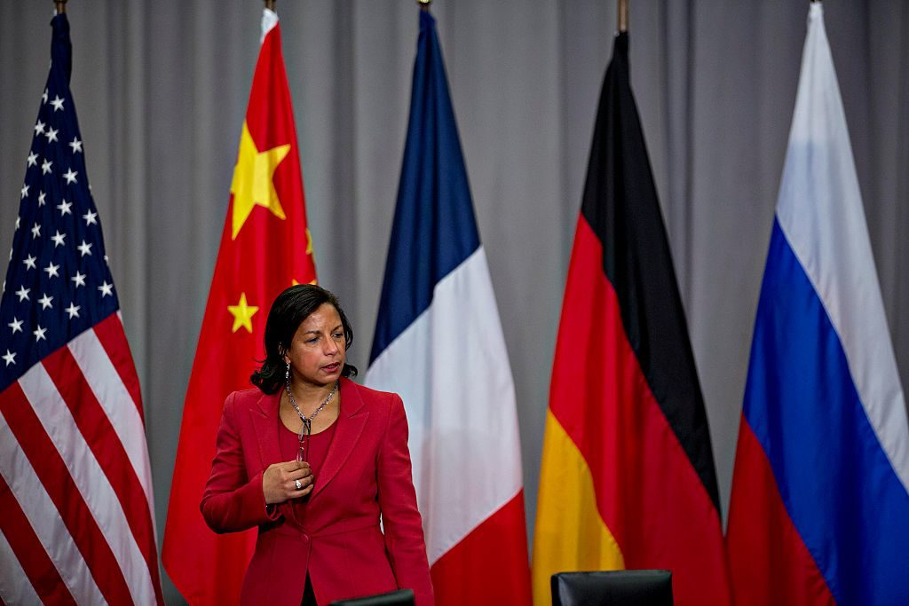 Susan Rice, U.S. national security advisor, arrives to the P5+1 multilateral meeting at the Nuclear Security Summit on April 1, 2016.