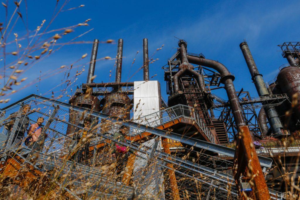 The former Bethlehem steel factory in Bethlehem, Pennsylvania on November 2, 2016.