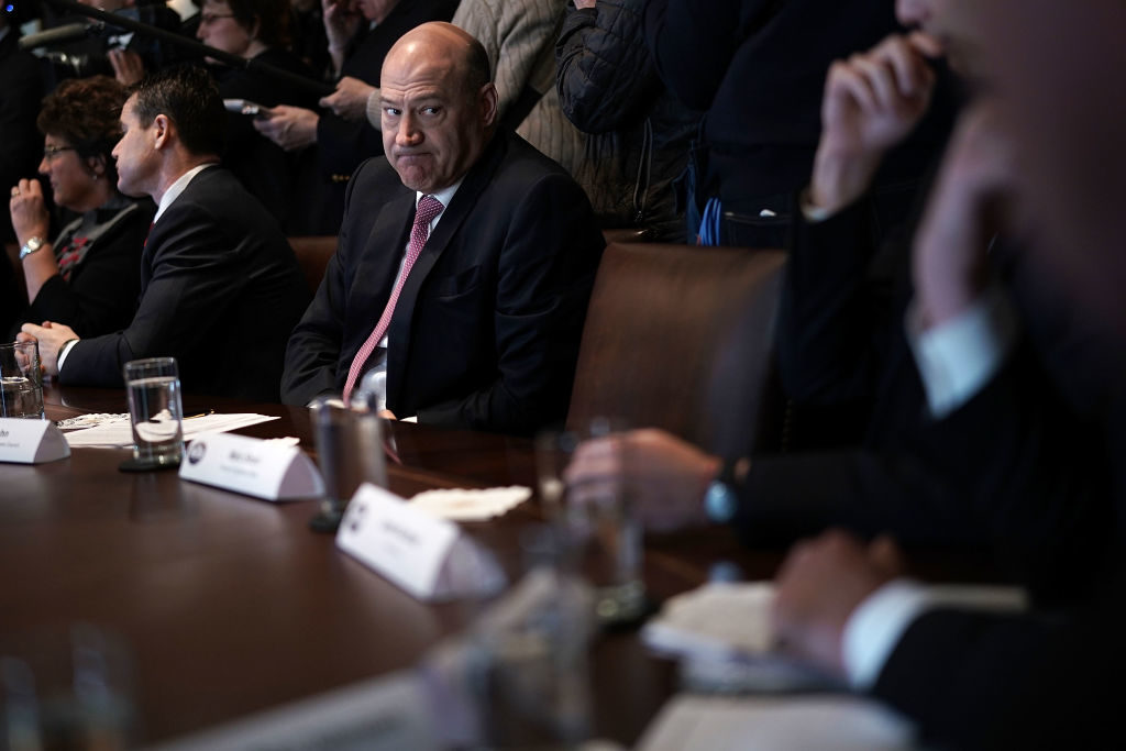 Director of the National Economic Council Gary Cohn listens during a meeting between President Donald Trump and congressional members in the Cabinet Room of the White House in February, 2018. Cohn resigned several weeks later.